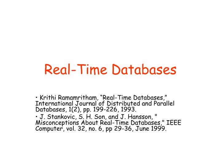 real time databases n.