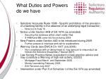 what duties and powers do we have2
