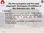 the pre conception and pre natal diagnostic techniques prohibition of sex selection act 19946