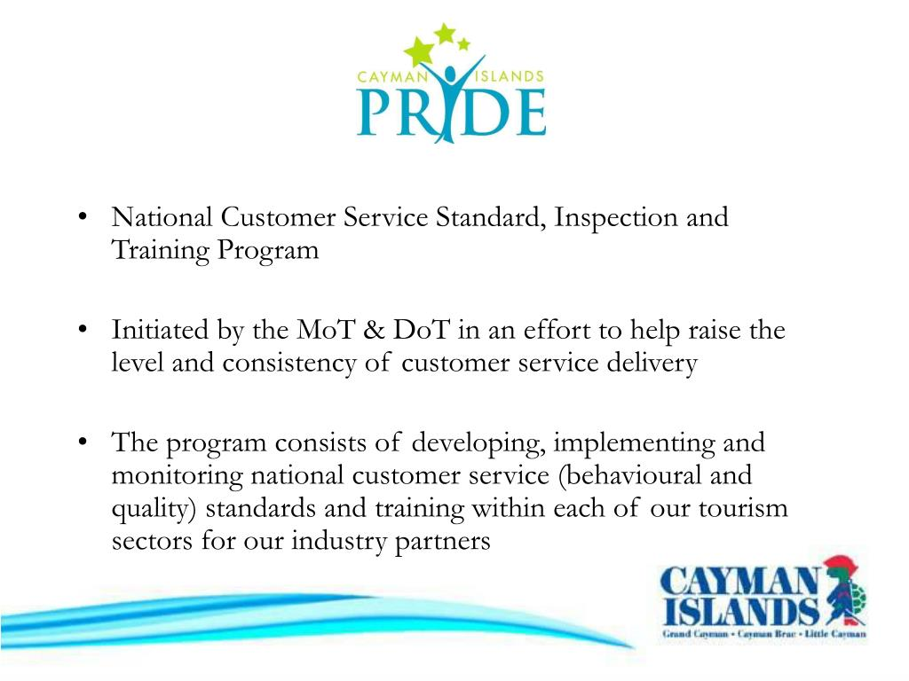 National Customer Service Standard, Inspection and Training Program