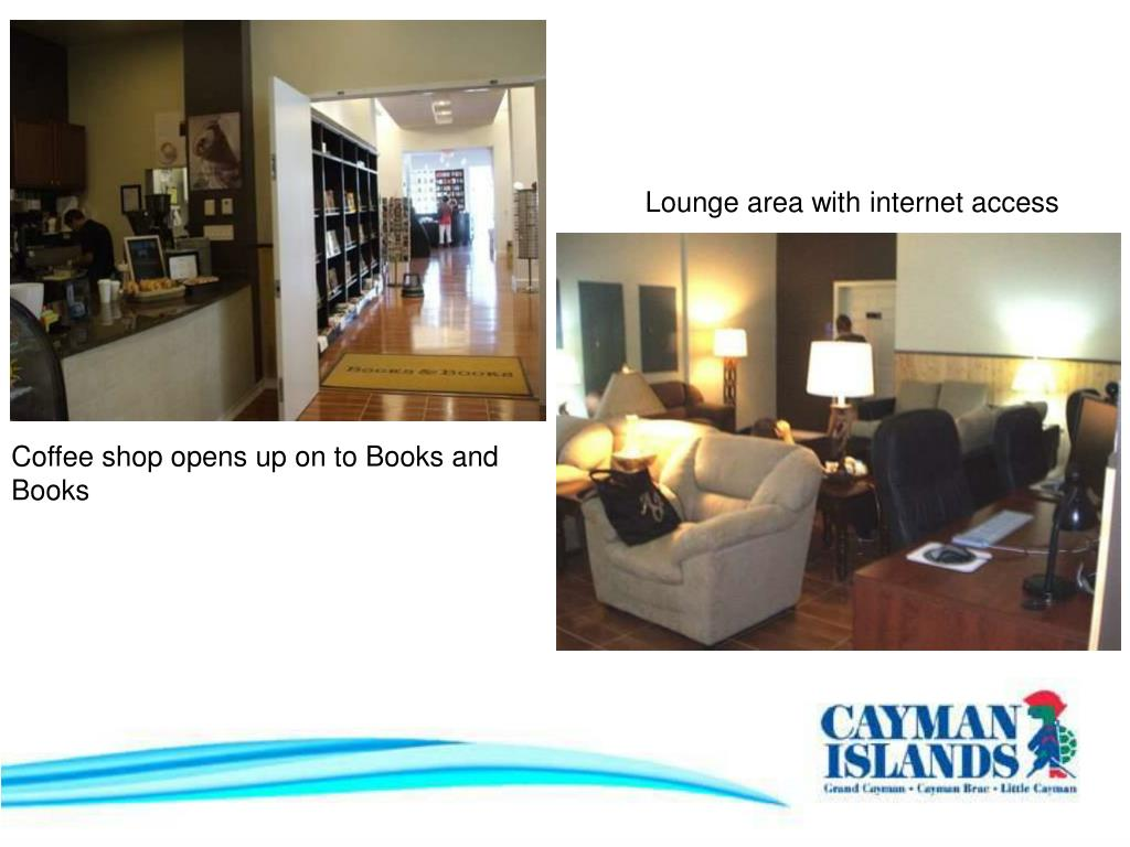 Lounge area with internet access