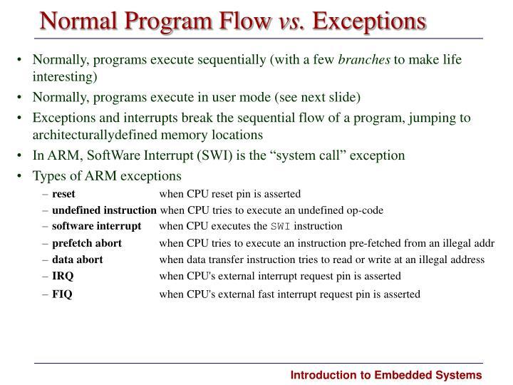 Normal Program Flow