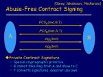 abuse free contract signing