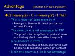 advantage intuition for main argument