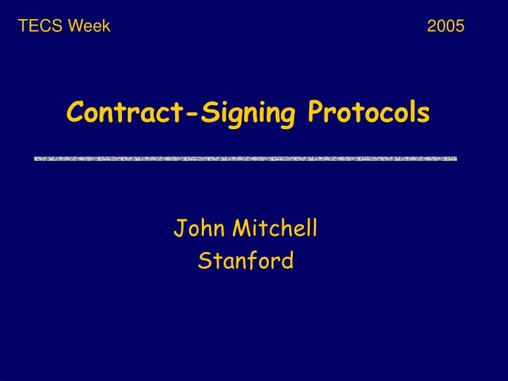 contract signing protocols n.