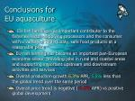 conclusions for eu aquaculture