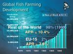 global fish farming development