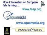 more information on european fish farming