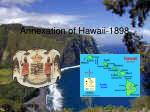 annexation of hawaii 1898
