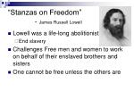 stanzas on freedom james russell lowell