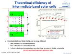 theoretical efficiency of intermediate band solar cells