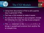 the cgi module