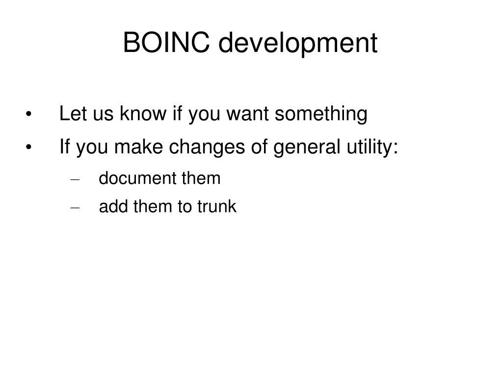 BOINC development