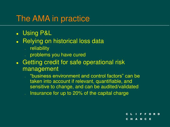 The AMA in practice