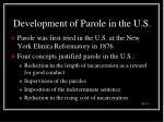 development of parole in the u s