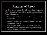 functions of parole