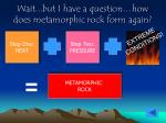wait but i have a question how does metamorphic rock form again