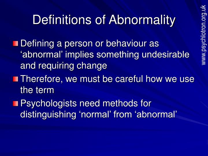 definitions of abnormality n.