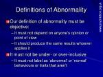 definitions of abnormality1