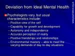 deviation from ideal mental health1