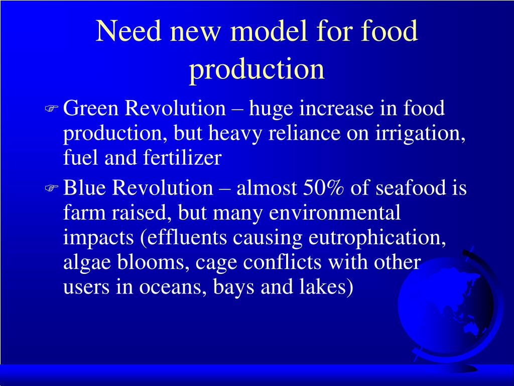 Need new model for food production