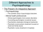different approaches to psychopathology7