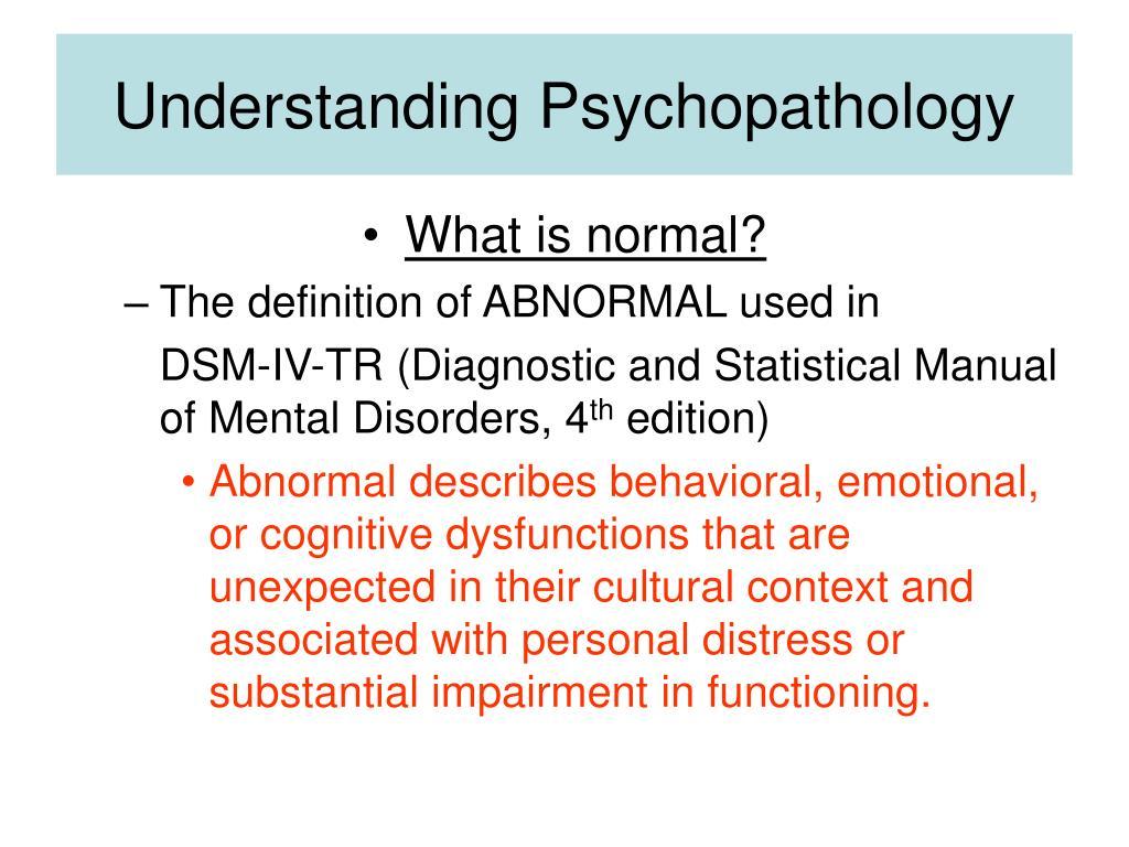 Ppt Abnormal Psychology Powerpoint Presentation Id1182254