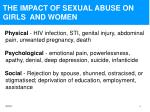 the impact of sexual abuse on girls and women