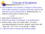 concept of irradiation