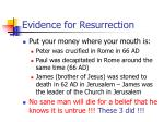 evidence for resurrection