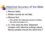 historical accuracy of the bible