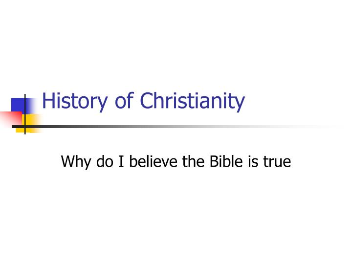 history of christianity n.