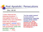 post apostolic persecutions