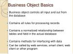 business object basics