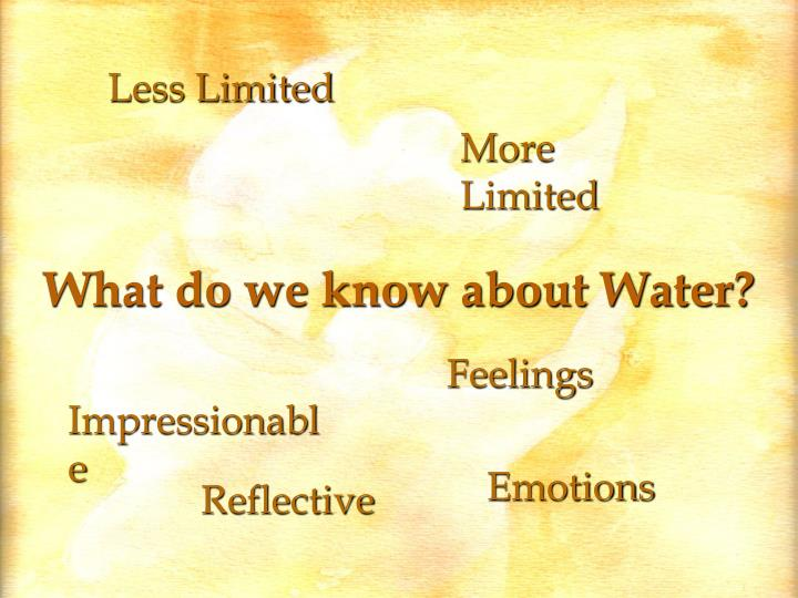 What do we know about Water?