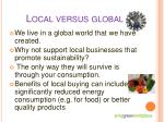 local versus global