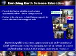 enriching earth science education
