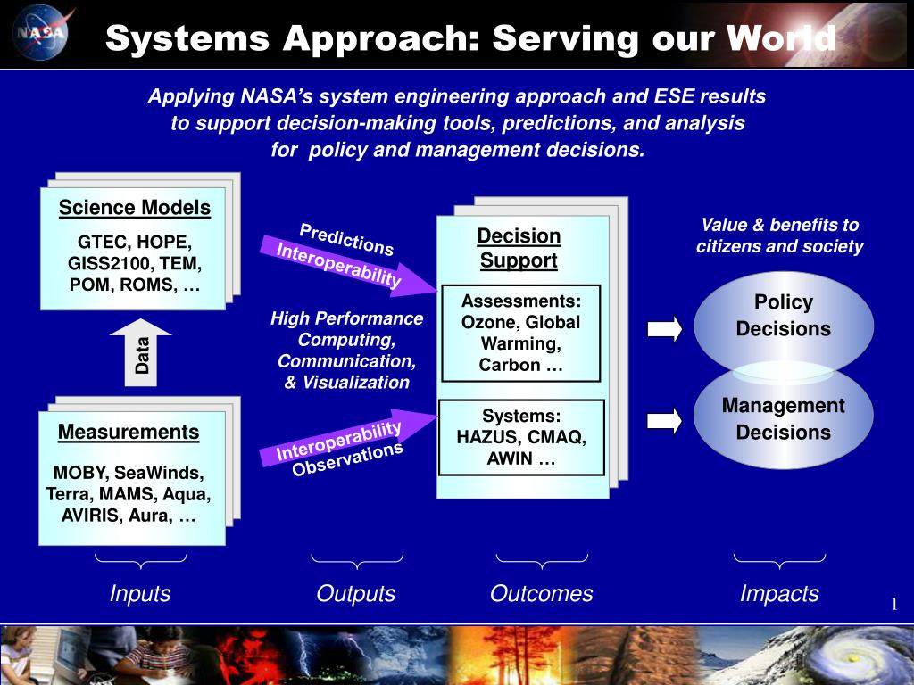 systems approach serving our world l.
