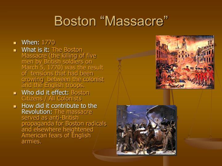 "Boston ""Massacre"""