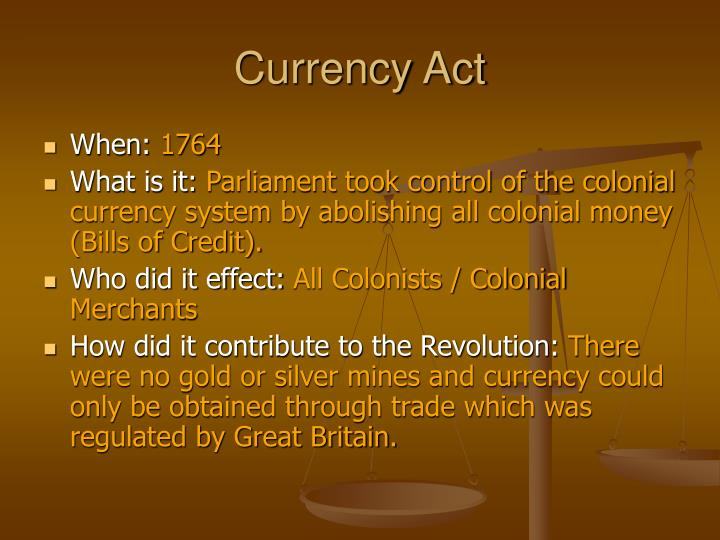 Currency Act