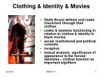 clothing identity movies