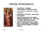 identity ambivalence