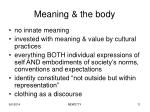 meaning the body