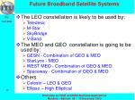 future broadband satellite systems
