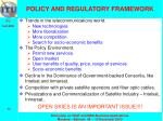 policy and regulatory framework