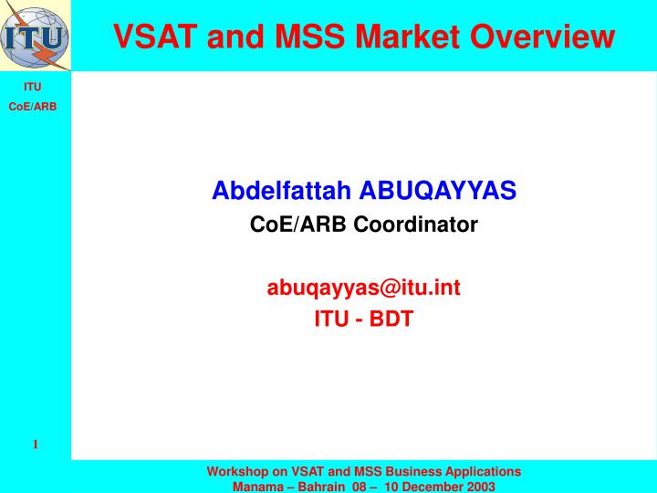 vsat and mss market overview n.