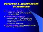 detection quantification of hematuria