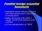 familial benign essential hematuria