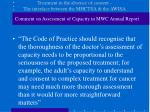 treatment in the absence of consent the interface between the mhctsa the awisa6