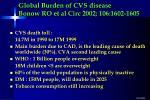 global burden of cvs disease bonow ro et al circ 2002 106 1602 1605